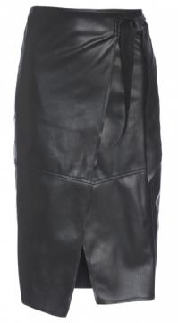 SAIA MIDI LEATHER LAÇO AMARO