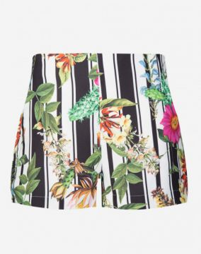 SHORT CREPE ESTAMPADO AMARO