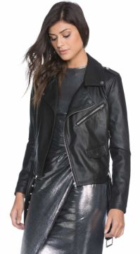 JAQUETA BIKER LEATHER AMARO