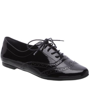 Oxford Brogue Verniz Preto - Anacapri