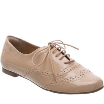 Oxford Brogue Verniz Nude - Anacapri