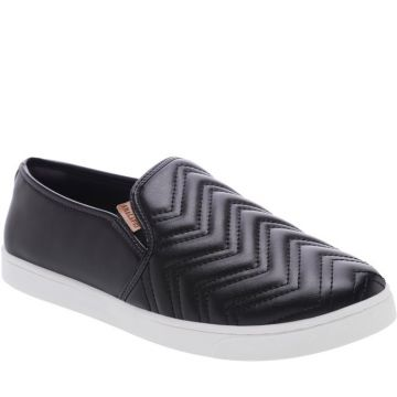 Tênis Slip On Chevron Preto - Anacapri
