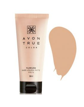 Base Líquida Matte Fps 15 True Color 30ml - Avon