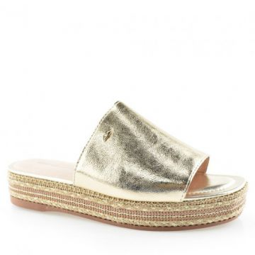 Tamanco Slide Flatform Dakota Z3771 Ouro Light