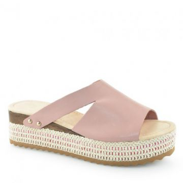 Tamanco Flatform Espadrille Bottero 293623 Rosa-Antique