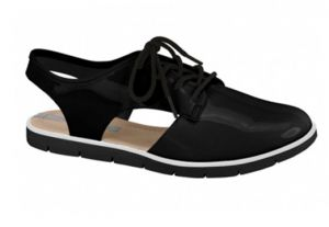 Sapato Oxford Cut Out Moleca 5409100 Verniz Preto