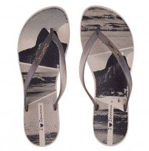 Chinelo Ipanema Wave Tropical 25980 Preto-Fume