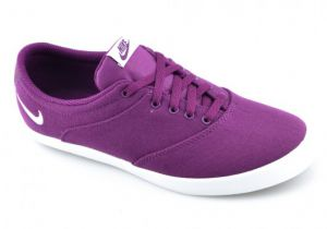 Tênis Nike Mini Sneaker Lace Canvas 724747 Branco-violeta