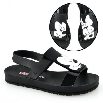 Sandália Zaxy Playful Mickey e Minnie 17461 Preto