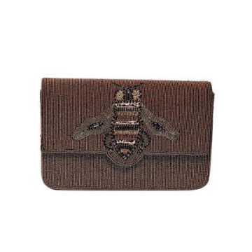 Clutch Paetê Bee Cobre - Carolina Cury