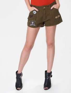 SHORT MY FAVORITE THINGS PATCHES VERDE MILITAR