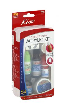 Kit De Unhas Acrílico Kiss New York (fak120)