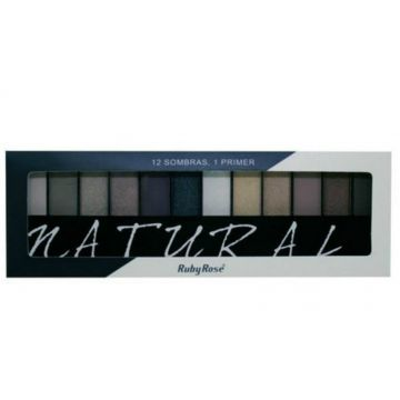 Paleta De Sombras Com Primer Natural Ruby Rose