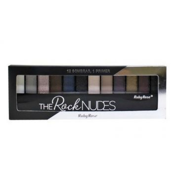 Paleta De Sombras Com Primer The Rock Nudes Ruby Rose