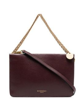 Burgundy Cross3 Leather Cross-body Bag - Givenchy