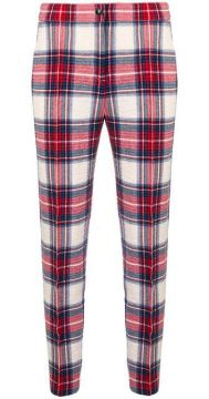 Checked Skinny Trousers - Boutique Moschino