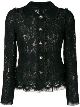 Lace Embroidered Fitted Jacket - Dolce & Gabbana