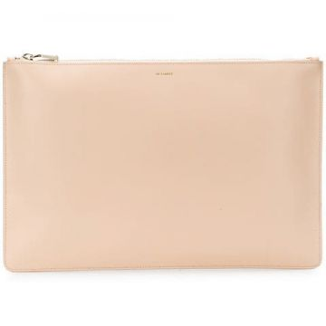 Envelope Leather Clutch - Jil Sander