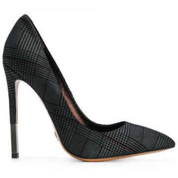 Plaid Stiletto Pumps - Gianni Renzi
