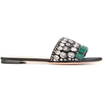 Crystal-embellished Slippers - Rochas