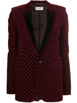 Blazer Bordado De Veludo - Saint Laurent