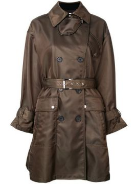 Double Breasted Belted Coat - Barbara Bui