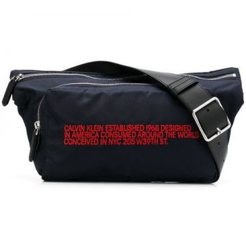Slogan Embroidered Belt Bag - Calvin Klein 205w39nyc