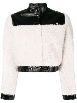 Faux Shearling Cropped Jacket - Courrèges