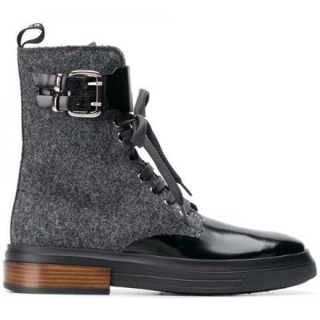 Ankle Length Combat Boots - Tods