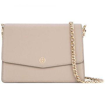 bff77aeed73 Tory Burch 46333 082-gray Heron Leather fur exotic Skins- le (Bolsas ...