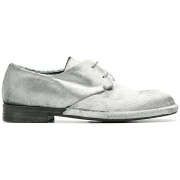 Furry Lace-up Shoes  - Del Carlo