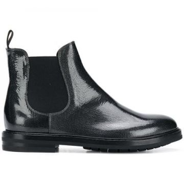 Ankle Boot De Couro - Agl