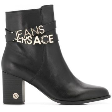 Ankle Boot Com Logo - Versace Jeans