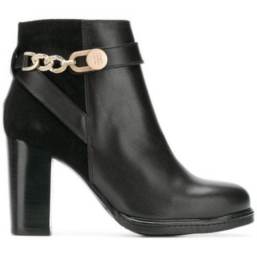 Ankle Boot De Couro - Tommy Hilfiger