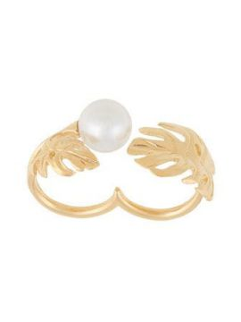 Double Finger Pearl Ring  - Ingie Paris