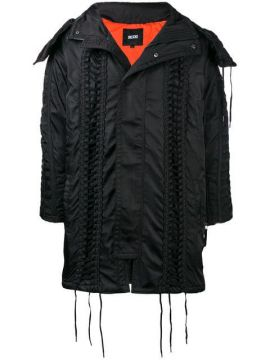 Lace-up Hooded Parka - Ktz