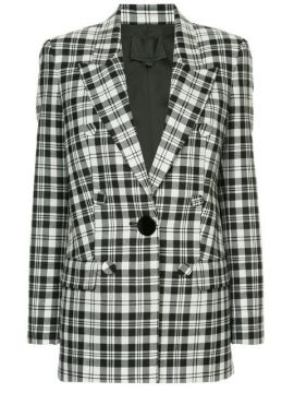 Double Breasted Blazer With Leather Sleeves - Alexander Wang