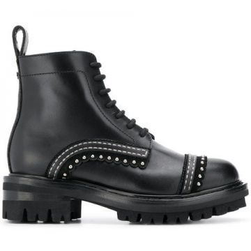 Ankle Boot De Couro - Dsquared2