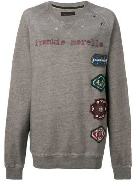 Oversized Logo Patch Sweatshirt - Frankie Morello