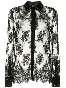 Lace Shirt With All Over Grommet Detail - Alexander Wang