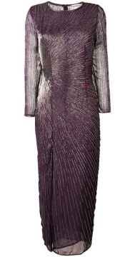 Bead Embroidered Slit Front Dress - Giacobino