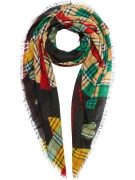 Poster Graphic Print Wool Silk Large Square Scarf - Burberry