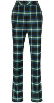 High-waisted Checked Trousers - Matthew Adams Dolan