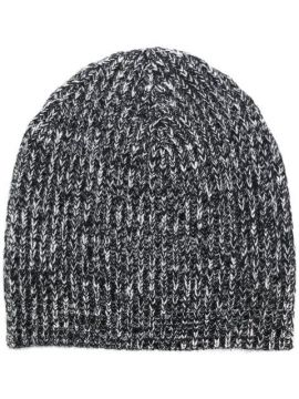 Melange Knitted Beanie - Cashmere In Love