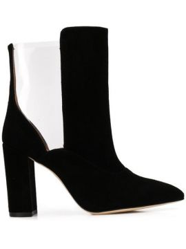 Cut-out Heeled Boots - Paris Texas
