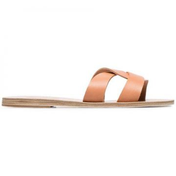 Nude Desmos Leather Sandals - Ancient Greek Sandals