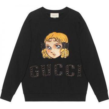 Moletom Oversized Com Patch - Gucci
