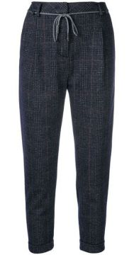Cropped Check Trousers - Eleventy