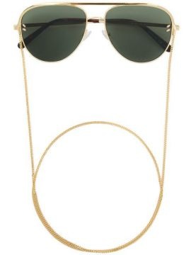 Aviator Sunglasses With Chain - Stella Mccartney Eyewear