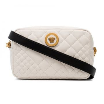 Quilted Leather Cross Body Bag  - Versace